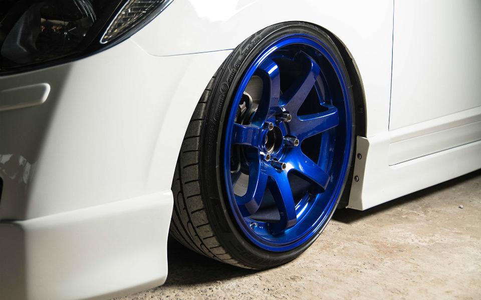 Покраска дисков в цвет - синий Candy
